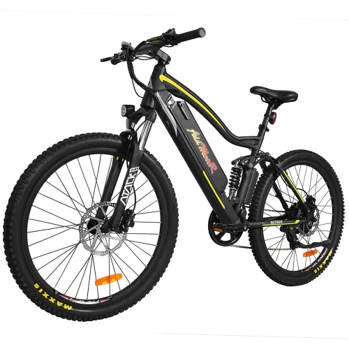 HITHOT H1 Platinum Super 500W 27.5 Inch Full Suspension Electric Mountain Bike - With Free Gift